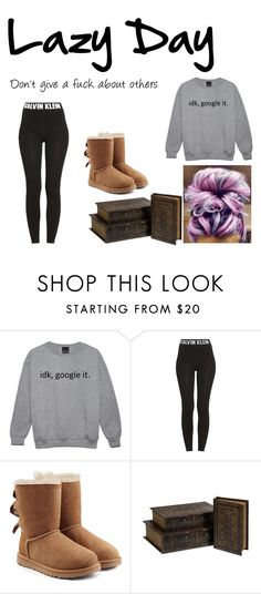 """""""Lazy Day"""" by eleonora199 on Polyvore featuring Calvin Klein and UGG Australia"""