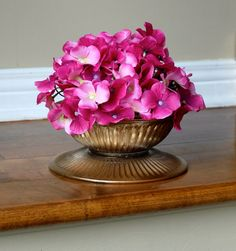 Bronze Gold Distressed Glass Bowl Vase Candle by HannaPlusJosh, $13.99