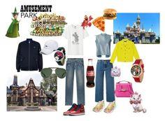 """60 SECOND STYLE Amusement Park"" by susibonvi ❤ liked on Polyvore featuring Ports 1961, René Caovilla, Marques'Almeida, Balenciaga, Paige Denim, Lacoste, Uniqlo, Gucci, Vineyard Vines and NIKE"