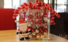 Jingle Bells Glass Block
