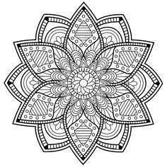 Pattern Coloring Pages, Mandala Coloring Pages, Coloring Book Pages, Trippy Drawings, Doodle Drawings, Mandala Design, Mandala Art, Blackwork Cross Stitch, Wall Drawing
