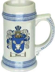 Baen Coat of Arms / Family Crest stein mug