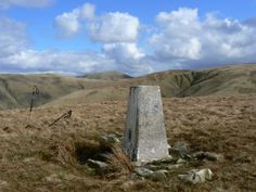 The trig point on Middleton in the Howgill Fells.