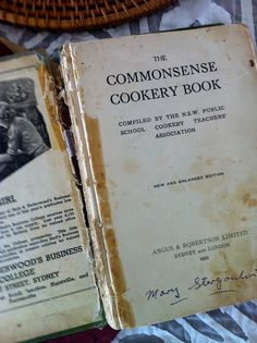 I love old books... Old cook books are treasure troves.