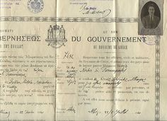 Greece Travelling Permit to Serbia Austria Germany 1920 Photo fiscal Stamp | eBay