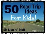 50 Road Trip Ideas for Kids! Lots of fun things to do to keep them entertained on the long drive. SixSistersStuff.com #roadtrip #kids