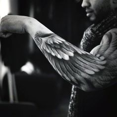 Amazing Mens Angel Wing Tattoo                              …