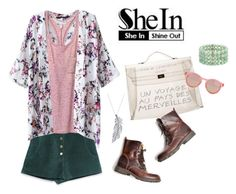 """Floral Kimono SheIn"" by theoni2009 ❤ liked on Polyvore featuring Zara, Hermès, Victoria's Secret, Le Specs, Stone Paris and Lonna & Lilly"