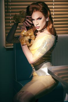Miss Fame - Pic from her Rubber Doll music video by Crystal Allen