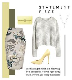 """Yellow"" by louisewinther ❤ liked on Polyvore featuring River Island, Casadei and Dorothy Perkins"