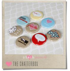 Boutique Buttons The Chatterbox by StashPanache on Etsy, £4.50