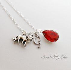 Gryffindor Necklace, Harry Potter Hogwarts House Necklace, Harry Potter Jewelry, Ruby Lion Charm Necklace