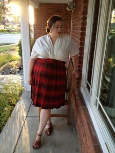 Vintage  Plus Size Plaid Pleated Skirt Size 16/18 by TheCurvyElle, $25.00