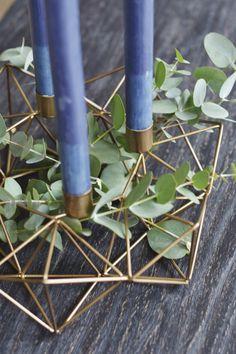 Geometric brass cand