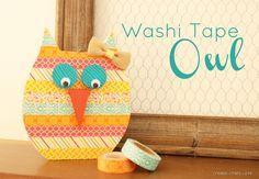 Washi Tape Owl via createcraftlove.com #washitape #owl #spring