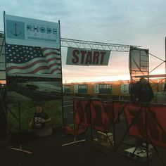 It is a beautiful morning for the start of the Ocean State Rhode Race!