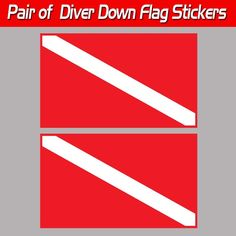 Scuba Dive Bumper Sticker Two 2 Divers Twins Swimming Dive Flag