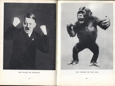 The Leader of Germany-The Terror of the Zoo Stefan Lorant - juxtapositions / Lilliput magazine, 1940 Blog Pictures, History Of Photography, Book And Magazine, Black And White Pictures, Art Direction, Cover Art, Germany, Polaroid Film, Superhero