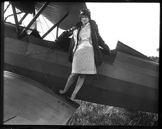 Elizabeth Skadden, the Amelia Earhart of Springfield, Illinois, 1929. Courtesy of the State Journal-Register