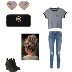 Casual Day Out by luluheiz on Polyvore featuring polyvore fashion style Frame Denim Acne Studios MICHAEL Michael Kors Wildfox