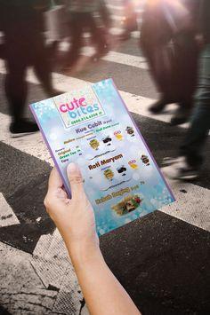 Small menu leaflet design for a local smack seller