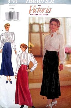 Romantic Victorian Blouses and Skirts Pattern by HandyHousewife