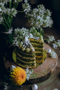 Matcha Cake with Passion and Cream Cheese Frosting