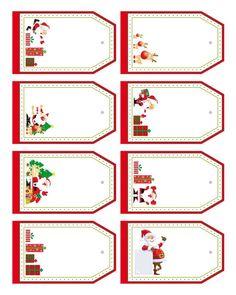 Etiquettes à imprimer pour cadeaux de Noël à offrir Christmas Gift Tags Printable, Christmas Labels, Christmas Gift For You, Personalized Christmas Gifts, Christmas Printables, Christmas Diy, Christmas Cards, Pinterest Christmas Crafts, Christmas Sheets