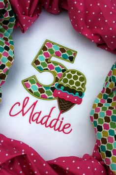 Personalized Applique Birthday Shirt