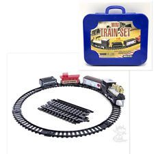 Mini Train Set 16 pieces Battery Power Carry Blue Case Toy Ages 6+