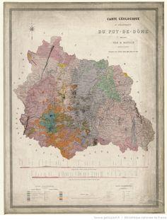 Carte géologique du département du Puy-de-Dôme / dressée par D. Baudin, pendant les années 1843... et 1846