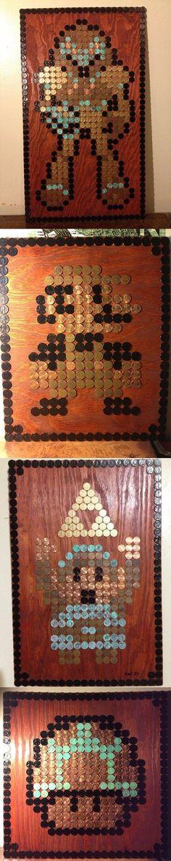 Arte ochobitesco hecho con monedas
