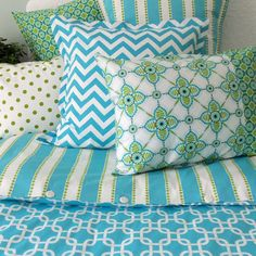 blue and green bedding for tween girls | Aqua+and+Green+Bedding+Ensemble.jpg