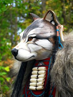 Grey Wolf Manitou Spirit or Totem by FreedomGallery on Etsy, $945.00