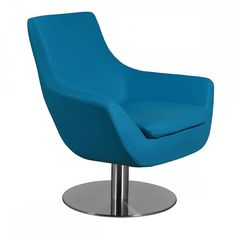 Brett Lounge Chair in Turquoise Wool by Aeon