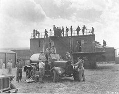 Waiting for the boys to return from bombing run -- Snetterton Heath, England