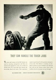 1942 Ad Bell Telephone System Telecommunications Wartime Industry Cable Spool | eBay