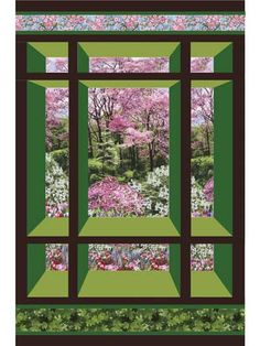 """This beautiful pattern will give you a glimpse into a world only an imagination away each and every time you look at it. The pattern can be used for a small or large wall hanging, or even as a lap quilt.   Finished sizes:  Small wall hanging: 30""""..."""