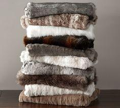 Faux Fur Throw | Housewarming Gift | Pottery Barn | DallasDesignGroup | Blog