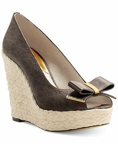 MICHAEL Michael Kors Meg Peep Toe Espadrille Wedges  I 'NEED' these to complete my life  ha ha ha OH  wait, my life is already complete but these would make me happy  let's bring 'em home VERY SOON