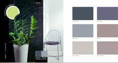 couleur-decoration-harmonie-de-gris-et-taupe-couleur-en-contraste-le-vert - Decoration maison, Idees deco interieur, astuces et peinture