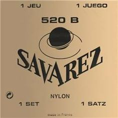 Savarez 520B Traditional Classical Guitar Strings, Low Tension, White Card by Savarez. $11.75. Put genuine Savarez quality on your nylon-string guitar! This quality set of Savarez Traditional 520B low-tension strings features silverplate-wound basses and wound-nylon trebles.. Save 39% Off!
