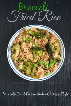 Broccoli Fried Rice in Indo-Chinese style (Healthy and Vegan)