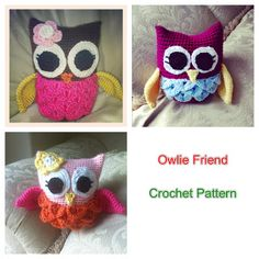 Owlie Friend, Free Crochet Pattern...this is one of the cutest I've seen, love her!