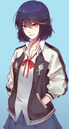 Ryuko Matoi by Jinkkap on DeviantArt Chica Anime Manga, Manga Girl, Kawaii Anime, Anime Girls, Kill La Kill, Anime Sexy, Fan Art Anime, Character Art, Character Design