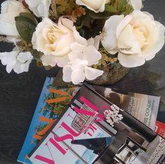 Revistas e flores