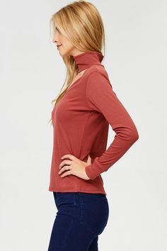 Ribbed Choker Neck Long Sleeve Sweater Relaxed through the chest, arms and waist. Hand wash Made in the united states Material: Rayon Polyester Spandex Neck Choker, Long Sleeve Sweater, Chokers, Turtle Neck, Sweaters, How To Make, Fashion, Choker, Moda