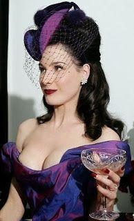 La Sombrerera de Lady Marlo: Dita Von Teese with hat. Dita Von Teese con sombrero. Tilt Hat  #millinery #judithm #hats