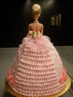 Barbie Cake! My Gran made these and won many awards for her cakes, This brings back wonderfull memories of her <3