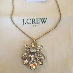 J CREW PENDANT NECKLACE J Crew sparkling eye catching pendant necklace. So beautiful!! J Crew dust bag included J. Crew Jewelry Necklaces